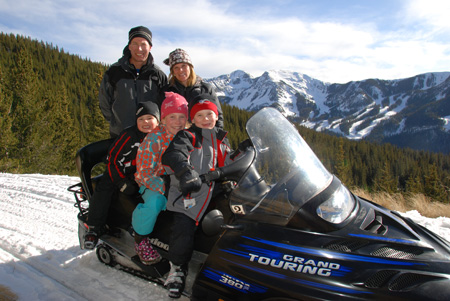 Family Snowmobile